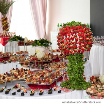 Banket Buffet mit Fingerfood, Obst